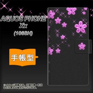AQUOS PHONE Xx 106SH 手帳型スマホケース 019 桜クリスタル|keitaijiman