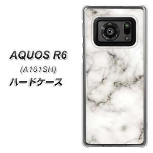 アクオスR6 A101SH ハードケース カバー KM871 大理石WH 素材クリア UV印刷|keitaijiman