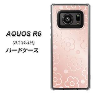 アクオスR6 A101SH ハードケース カバー SC843 エンボス風デイジードット(ローズピンク) 素材クリア UV印刷|keitaijiman