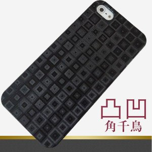 凸凹 スマホケース 493 角千鳥 素材クリア・ブラック iPhone6(4.7インチ)/SO-04E/SO-02E/SO-03D/SC-04E/SC-06D/SH-06E/P-02E/F-05D/iPhone5 等|keitaijiman