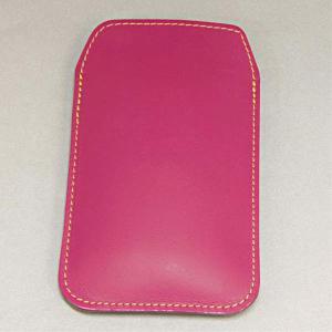 本革スマートフォンケース ピンク SH-04E/SH-01E/F-03E/SH-05E/N-02E/iPhone4S/Xperia acro/iPhone5 等 汎用タイプ|keitaijiman
