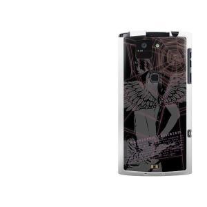アローズX F-02E TPU ソフトケース やわらかカバー UB818 Angel Beats 素...