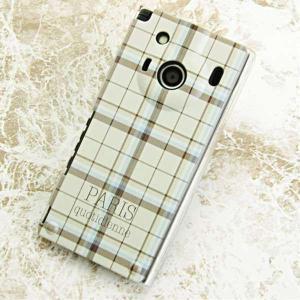 IS04ケース レグザフォン 特殊印刷カバー 548 PARISチェック クリア レグザフォン is 04保護カバー REGZAPhone IS|keitaijiman