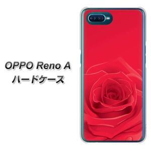 オッポ Reno A ハードケース カバー 395 赤いバラ 素材クリア UV印刷|keitaijiman