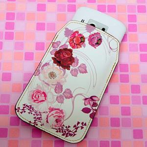 【納期2週間】 本革 レザー スマートフォンケース 116 6月のバラ Xperia A/Galaxy S4/ARROWS NX/AQUOS PHONE SERIE/iPhone5 等 汎用タイプ keitaijiman
