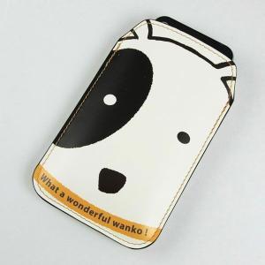 【納期2週間】 本革 レザー スマートフォンケース IA800 わんこ Xperia A/Galaxy S4/ARROWS NX/AQUOS PHONE SERIE/iPhone5 等 汎用タイプ keitaijiman