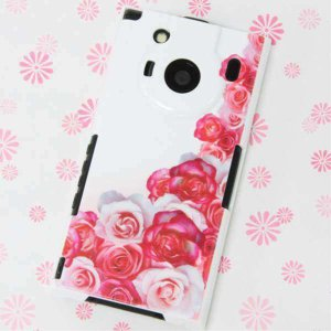 T-01Cケース 特殊印刷カバー 299 薔薇の壁 T―01C レグザフォン t01c REGZAPhone T-01C用 ス