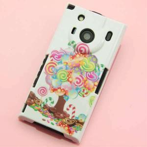 T-01Cケース 特殊印刷カバー 381 デコツリー T―01C レグザフォン t01c REGZAPhone T-01C用