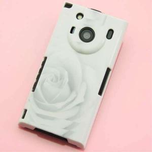 T-01Cケース 特殊印刷カバー 402 ホワイトRose T―01C レグザフォン t01c REGZAPhone T-01C用