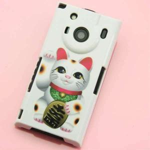 T-01Cケース 特殊印刷カバー 471 まねき猫 T―01C レグザフォン t01c REGZAPhone T-01C用 ス