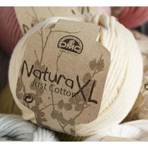 DMC NaturaXL ナチュラXL 色1 Just Cotton 【KN】【MI】【KIYOHARA】 手編み用 コットン サマーヤーン 毛糸 編み物 超 極太|keitogura
