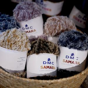 SAMARA サマラ DMC 【KN】 ファー毛糸 ファーヤーン フェイクファー 編み物 超極太 毛糸|keitogura