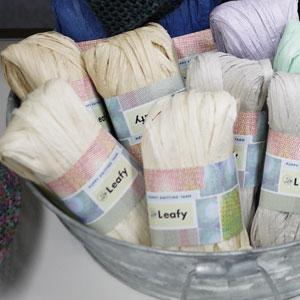 リーフィー パピー 【KY】サマーヤーン 毛糸 編み物 ストローヤーン バッグ 帽子|keitogura