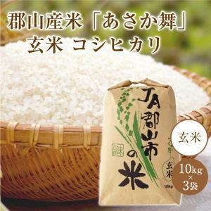 郡山産米「あさか舞」 玄米コシヒカリ【10kg×3袋】|keizai