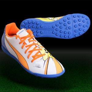 エヴォパワー 4.2 POP TT ホワイト×オレンジクラウンフィッシュ 【PUMA|プーマ】サッカートレーニングシューズ103651-01|kemari87