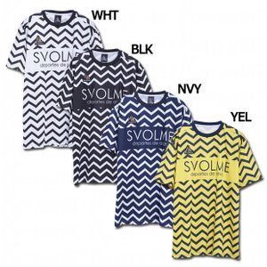 半袖ジグザグボーダーTシャツ 【SVOLME|スボルメ】サッカーフットサルウェアー1193-2900...