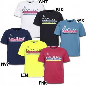 人気急上昇ブランド・スボルメ、半袖ロゴプラTシャツ。 吸水速乾性に優れた定番のプラクティスシャツ。コ...