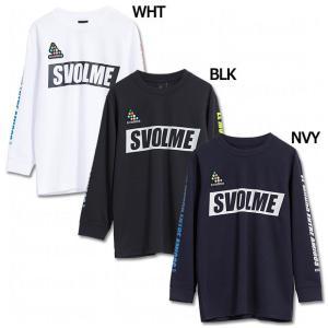 ジュニア SIMPLE ロングプラTシャツ 【SVOLME|スボルメ】サッカーフットサルジュニアウェ...