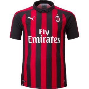 イタリア・セリエAの名門クラブ、ACミラン、18-19年シーズンモデル、ホーム用レプリカユニフォーム...