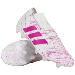 ネメシス 18.1 FG/AG ランニングホワイト×ショックピンクF18 【adidas アディダス】サッカースパイクbb9427