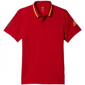 スペイン代表 アンセムポロシャツ 【adidas|アディダス】サッカーナショナルチームウェアーbbp75-ai4441|kemari87