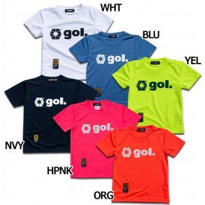 ゴル、ジュニア用半袖ドライシャツ。 コットンの2倍以上速乾性能を携えるDRYファブリック素材を採用。...