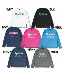 スパッツィオ、長袖プラクティスシャツ。 SPAZIOロゴデザインのロングスリーブプラクティス。暖かい...