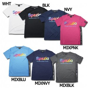 スパッツィオ、ジュニア用プラクティスシャツ。 前面だけでなくサイドにもロゴをあしらったジュニア半袖プ...