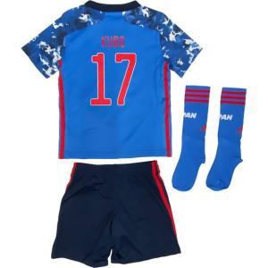 サッカー日本代表2020年モデル、子供用ホーム ジャージー、ショーツ、ソックスの3点セット。(日本代...