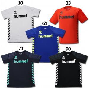 ジュニア ドライ半袖Tシャツ 【hummel|ヒュンメル】サッカーフットサルジュニアウェアーhjy2...
