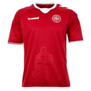 デンマーク代表 16-17 ホーム 半袖オーセンティックユニフォーム 【hummel|ヒュンメル】ナショナルチームレプリカウェアーhm03712|kemari87