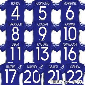 サッカー日本代表 ホーム メモリアルユニフォーム ネーム&ナンバーマーキングセット jfa17-mark-20th|kemari87