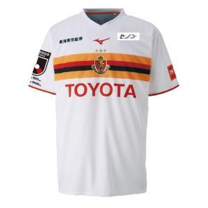 Jリーグ・名古屋グランパスエイト、2019年シーズンモデル、アウェイ用半袖レプリカシャツ。 品質:ポ...