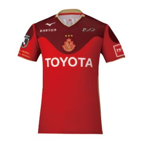 Jリーグ・名古屋グランパスエイト、2019年シーズンモデル、夏季限定半袖オーセンティックシャツ。 7...