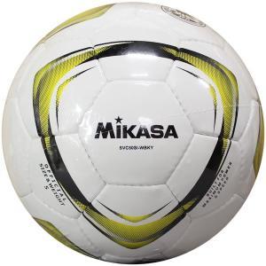 サッカー検定球 ホワイト×ブラック×イエロー 【MIKASA...