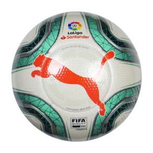 LA LIGA 1 プーマホワイト×グリーングリマー 【PUMA|プーマ】サッカーボール5号球083396-01-5|kemarifast