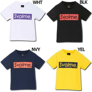 ジュニア キッズ BOXロゴTシャツ 【SVOLME|スボルメ】サッカーフットサルジュニアウェアー1...