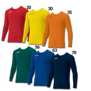 カラーあったか丸首インナーシャツ 【hummel|ヒュンメル】サッカーフットサルウェアーhap5147cc|kemarifast