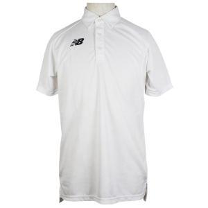 ジャガードポロシャツ ホワイト 【NewBalance|ニューバランス】サッカーフットサルウェアーjmtf0439-wt|kemarifast
