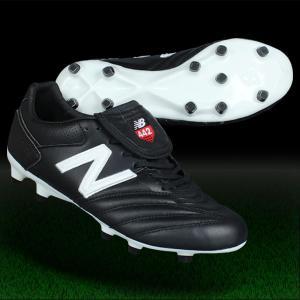 サッカースパイク ニューバランス 442 PRO FG BW1 2E ブラック×ホワイト NewBalance msckfbw12e|kemarifast