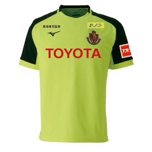 Jリーグ・名古屋グランパスエイト、2019年シーズンモデル、アウェイ用半袖トレマッチシャツ。 選手が...
