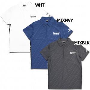 スパッツィオ、半袖ポロシャツ。 個性的なストライプのデザインを採用。 品質:ポリエステル100% モ...