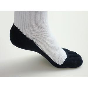5本指  靴下 パンダ ハイソックス メンズ 強い スポーツ アウトドア ソックス 少年用 日本製 五本指|kenbee-sports-socks|03