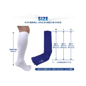 5本指 靴下 ハイソックス メンズ 強い スポーツ アウトドア ソックス 日本製 五本指|kenbee-sports-socks|03
