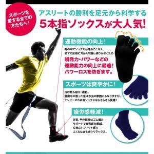 5本指  靴下 お試し 2足セット 【送料無料】 ハイソックス メンズ 強い スポーツ アウトドア ソックス 日本製 五本指|kenbee-sports-socks|02