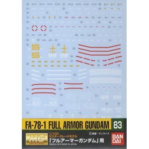GD83 MG 1/100 FA-78-1 フルアーマーガンダム用 (機動戦士ガンダム) 新品ガンダ...