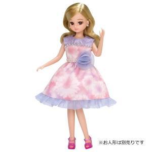 ドレス LW−03 パープルフラワー 新品リカちゃん   (リカちゃん人形 着せ替え人形 女の子向け タカラトミー)|kenbill