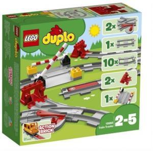 あそびが広がる! 踏切レールセット 10882 新品レゴ デュプロ   LEGO 知育玩具 (弊社ステッカー付)|kenbill