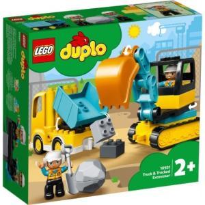 トラックとショベルカー 10931 新品レゴ デュプロ   LEGO 知育玩具 (弊社ステッカー付)|kenbill