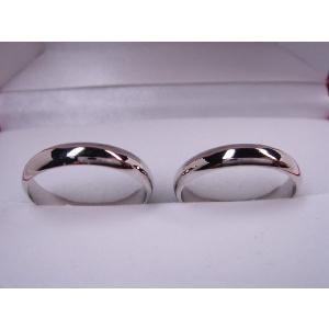 プラチナマリッジリング結婚指輪 シンプル甲丸Mペア2本セット 財務省造幣局検定刻印入